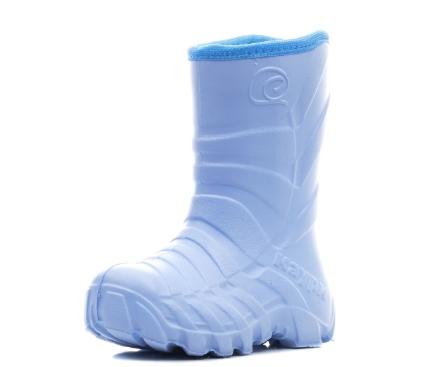 Детские утепленные сапожки из ЭВА, цвет голубой