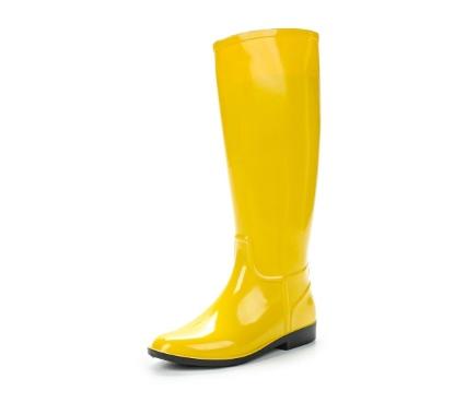 Женские сапоги из ПВХ, цвет желтый