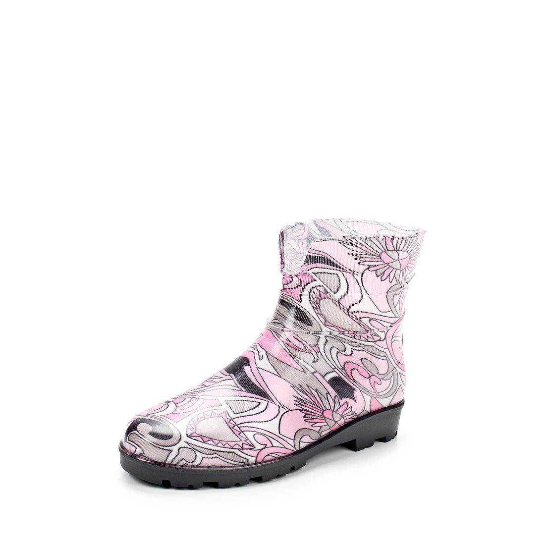 Женские ботильоны из ПВХ, цвет ярко-розовый