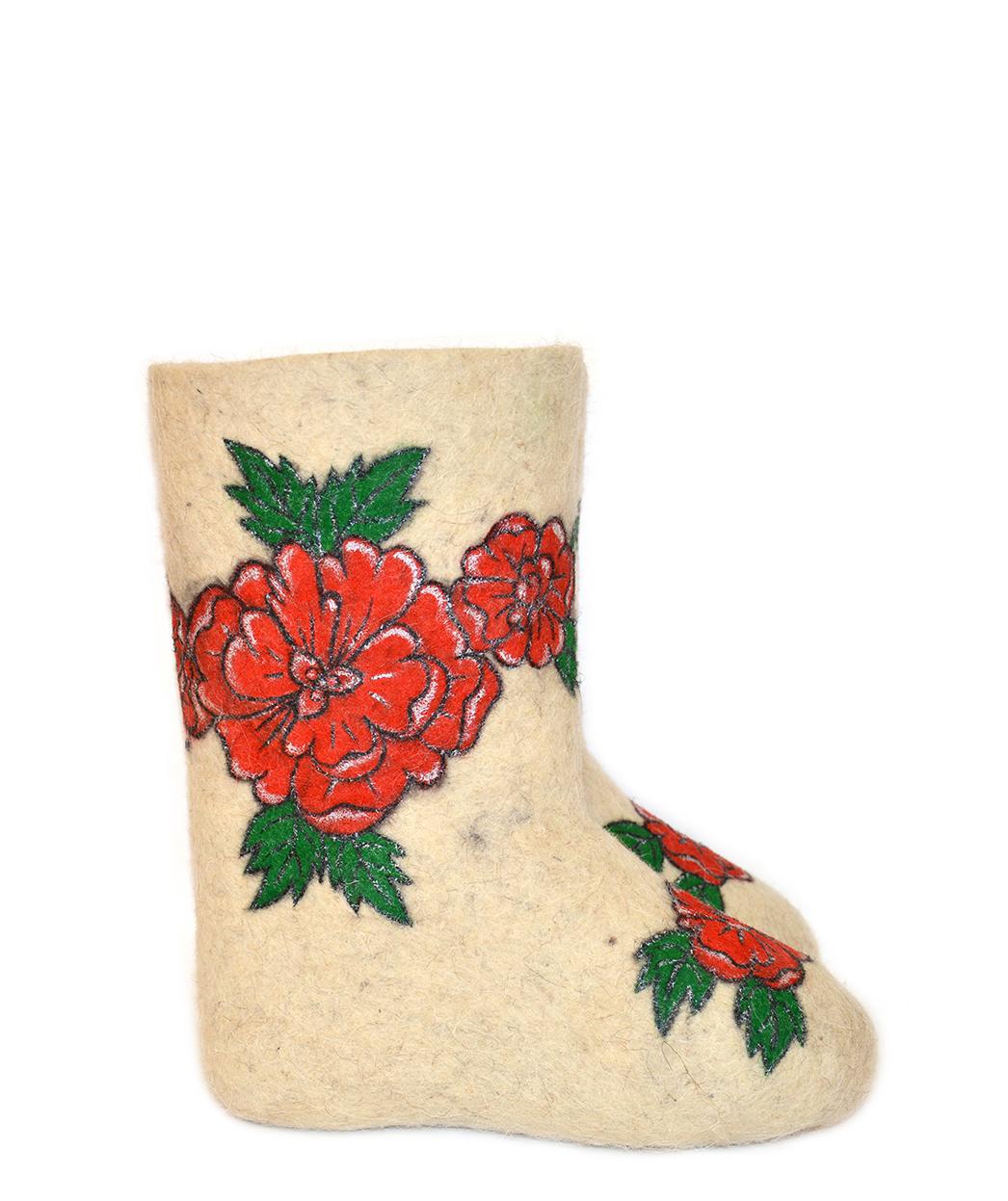 Детские валенки «Розы»