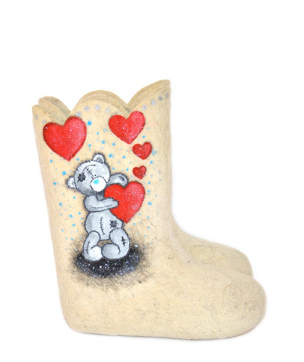 Детские валенки «Романтичный Тедди»