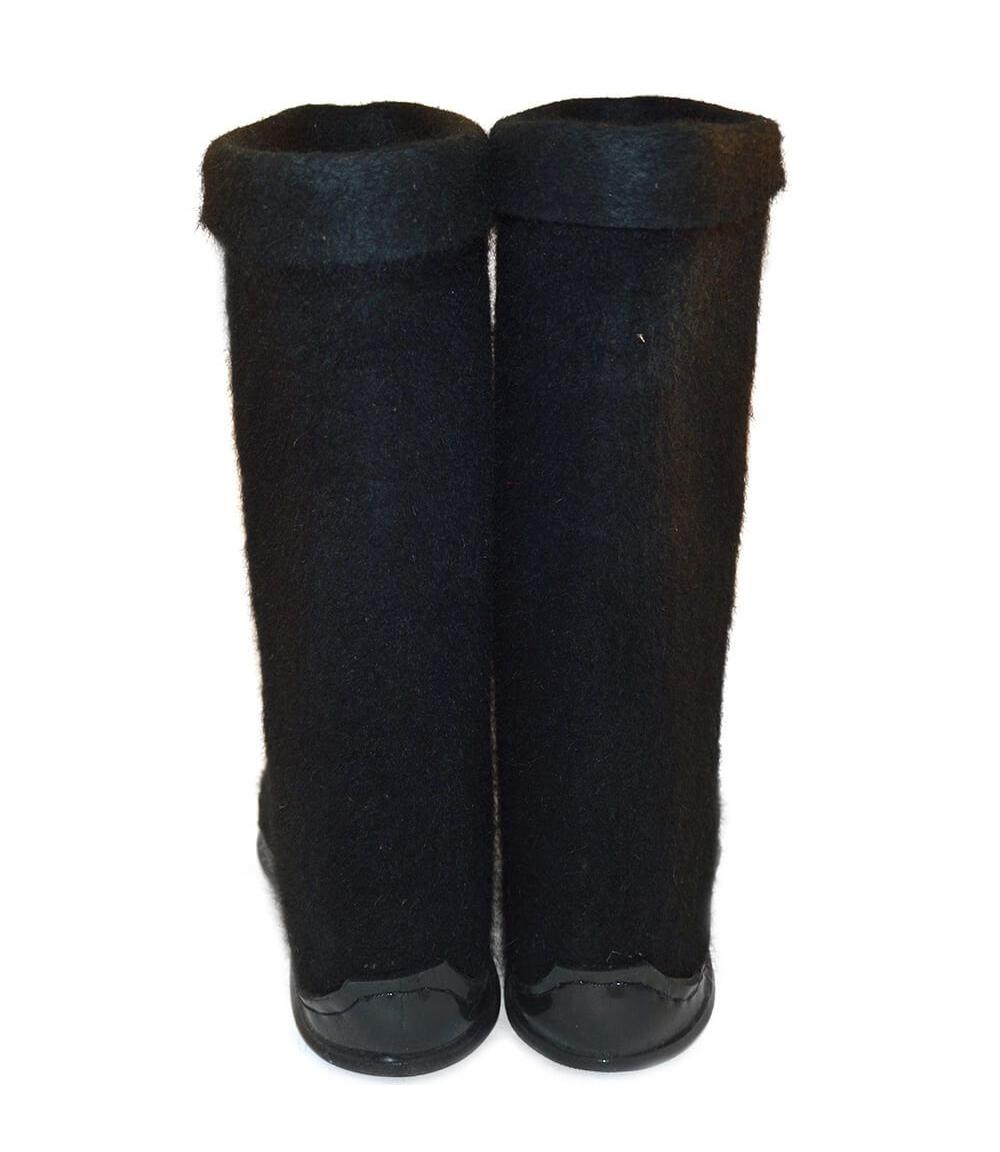 Черные мужские валенки с подошвой