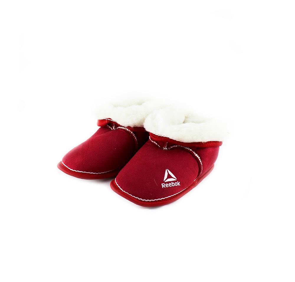 Детские чуньки «Бордушка», цвет красный