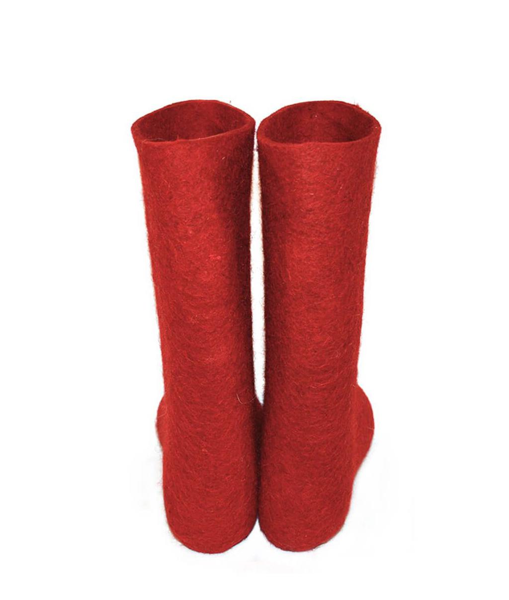 Женские красные валенки