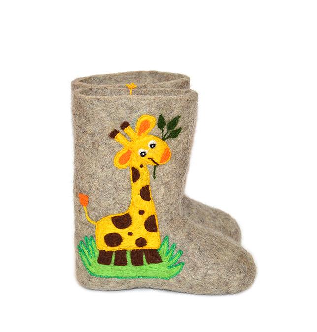 Детские валенки «Жираф»