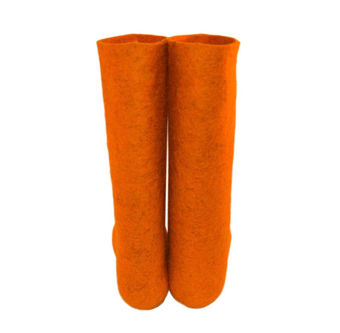 Мужские оранжевые валенки