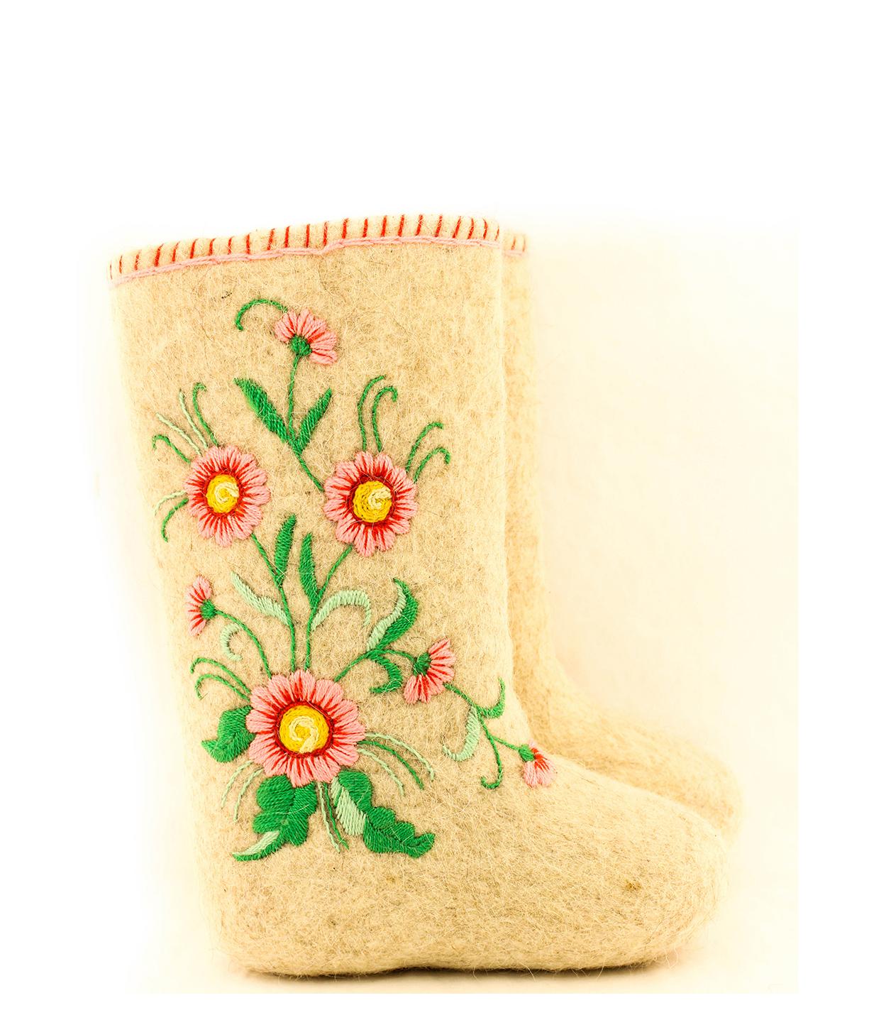 Валенки подарочные с цветочным принтом