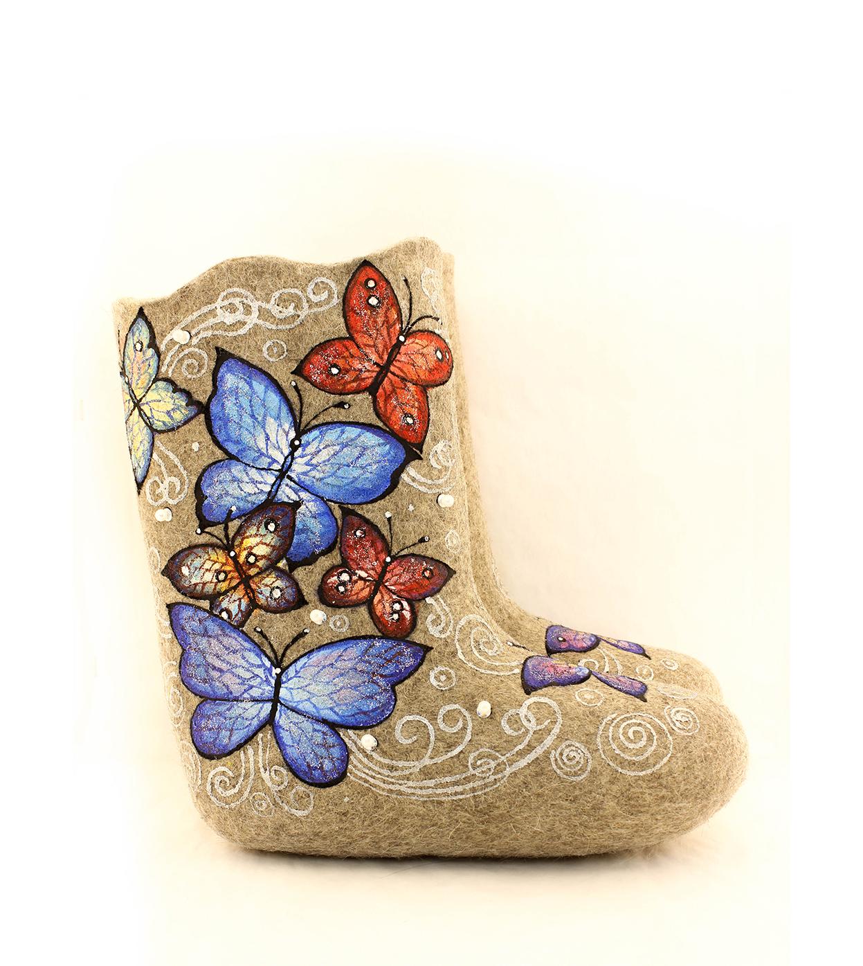 Детские валенки «Бабочки»