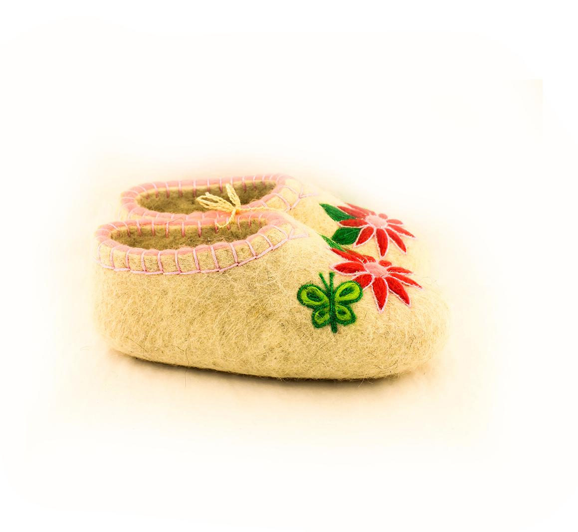 Женские зеленые тапочки «Бабочка»
