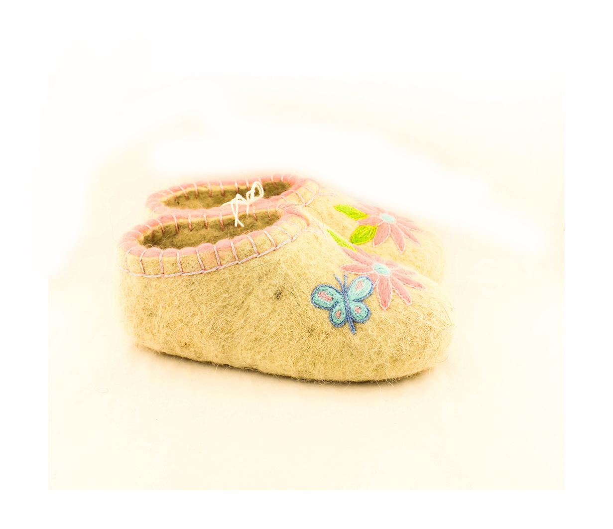 Женские голубые тапочки «Бабочка»