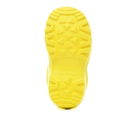 Осенне-весенние детские утепленные сапожки из ЭВА, цвет желтый