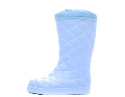 Женские сапоги из ЭВА, цвет голубой