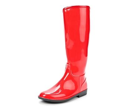 Женские сапоги из ПВХ, цвет красный