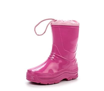 Детские утепленные сапожки из ПВХ с надставкой, цвет розовый