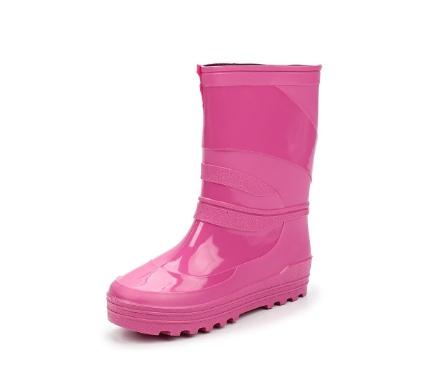 Школьные сапожки из ПВХ, цвет розовый
