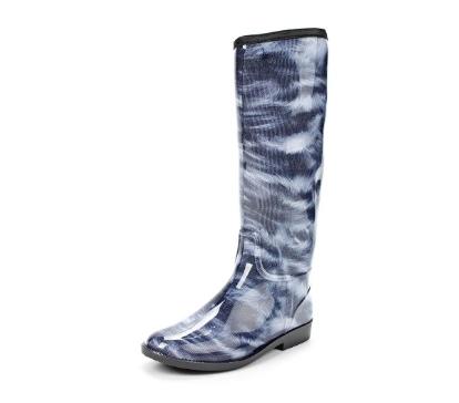Женские сапоги из ПВХ, цвет синий