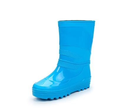 Школьные сапожки из ПВХ, цвет голубой