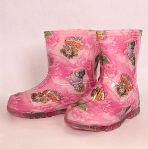 Малодетские сапожки из ПВХ, цвет розовый