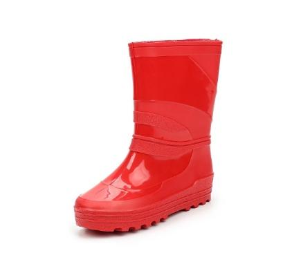 Школьные сапожки из ПВХ, цвет красный