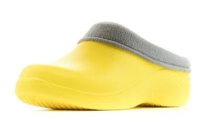 Женские сабо из ЭВА утепленные, цвет желтый