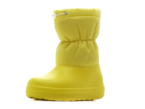 Короткие женские утепленные полусапожки из ЭВА, цвет желтый