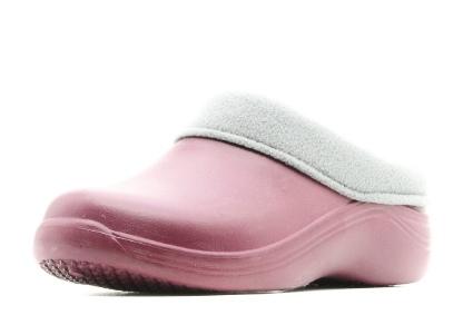 Женские сабо из ЭВА утепленные, цвет розовый