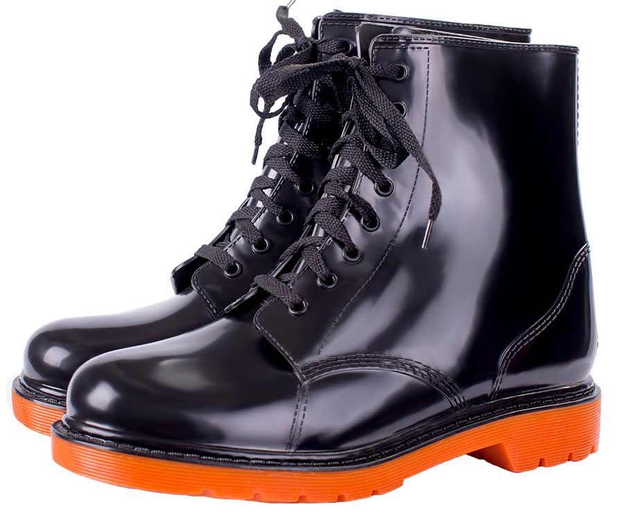 Женские однотонные ботинки на шнуровке