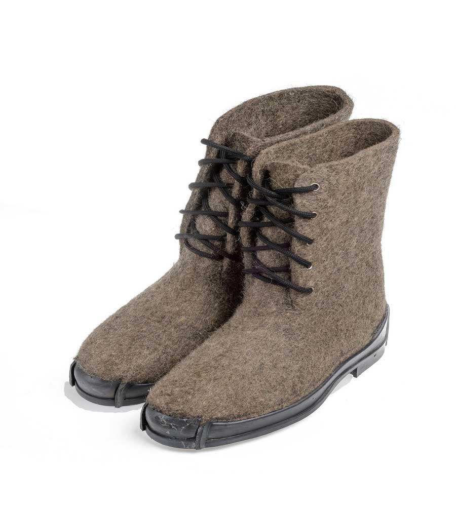 Мужские ботинки на противоскользящей резиновой подошве Нева, цвет серый