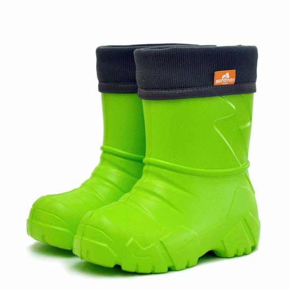 Сапоги детские Nordman Kids с вшитым флисовым утеплителем, цвет зеленый