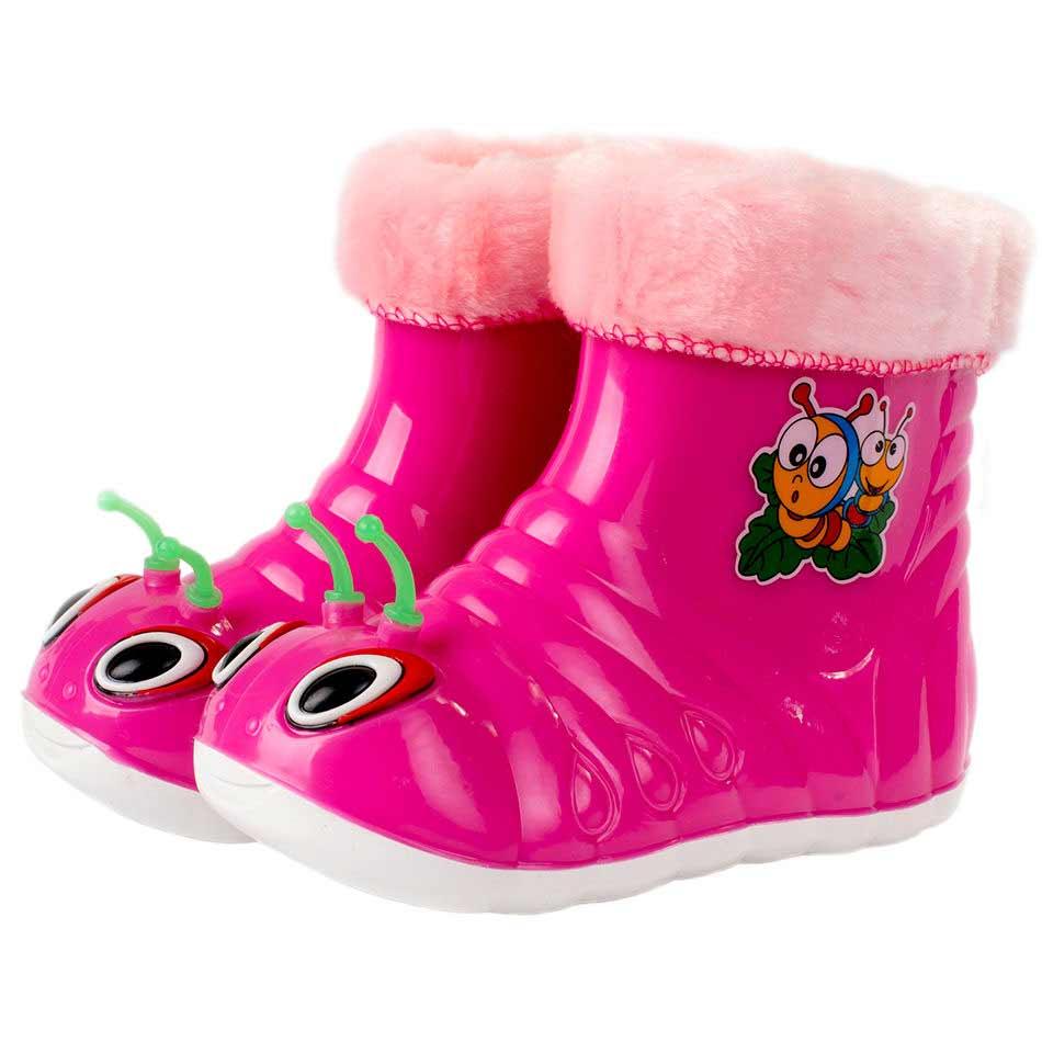 Детские утепленные сапожки  «Улитка», цвет розовый