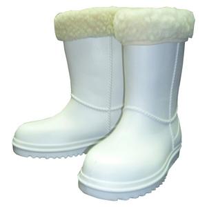 Детские утепленные сапожки из ЭВА с меховым отворотом, цвет белый