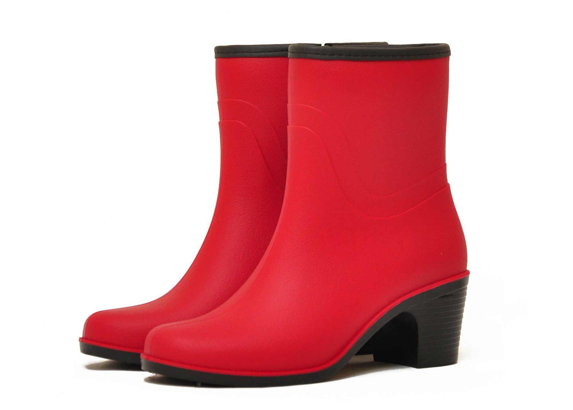 Женские полусапожки Nordman Bellina на каблуке матовые, цвет красный