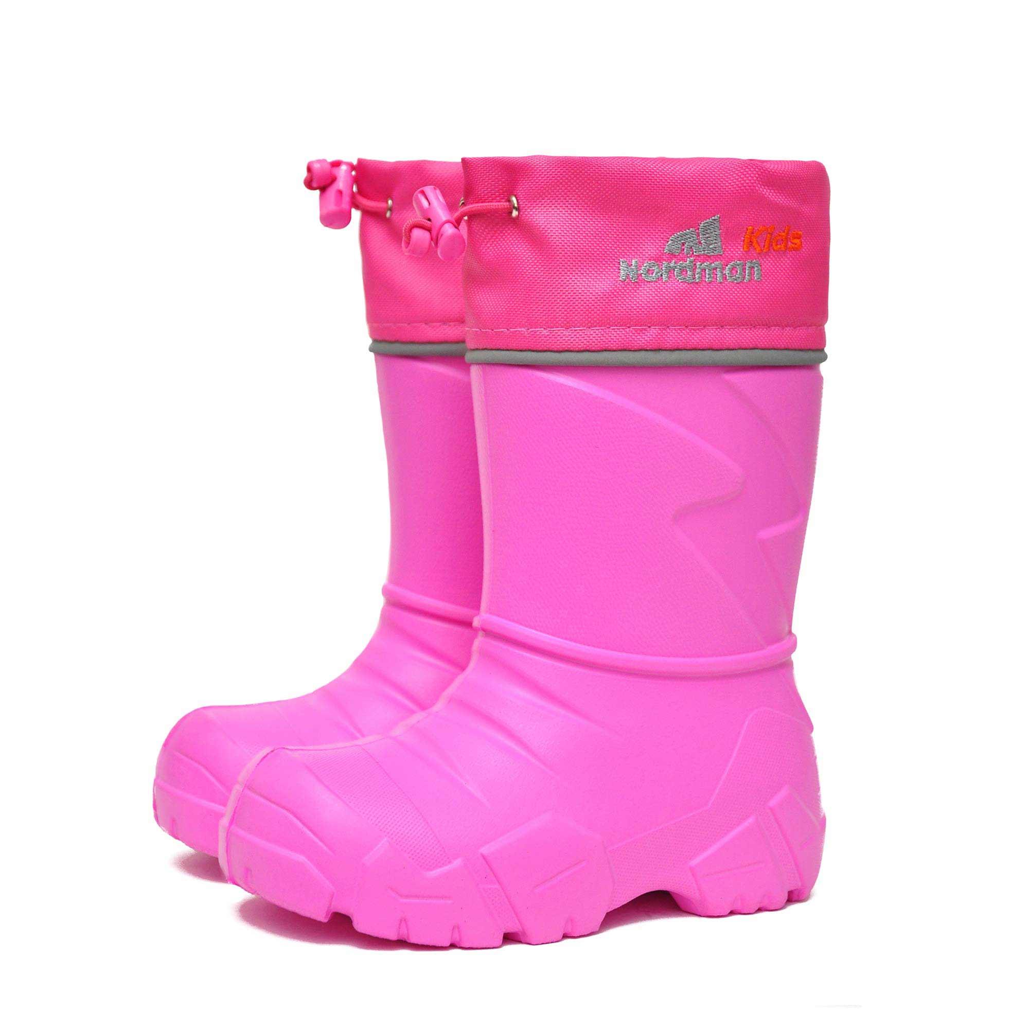 Сапоги Nordman Kids из Эва с вшитым меховым вкладышем, цвет розовый