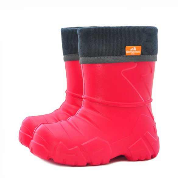 Сапоги детские Nordman Kids с вшитым флисовым утеплителем, цвет красный