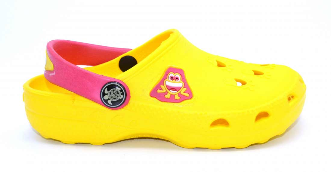 Детские сабо Фрогги из ЭВА, цвет желтый