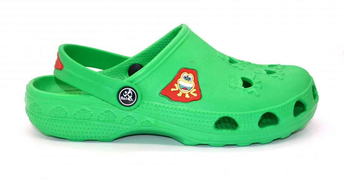 Детские сабо Фрогги из ЭВА, цвет зеленый