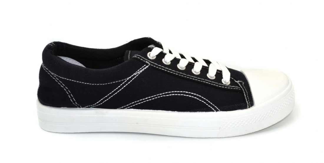 мужские кеды Eva shoes с белой подошвой, цвет черный