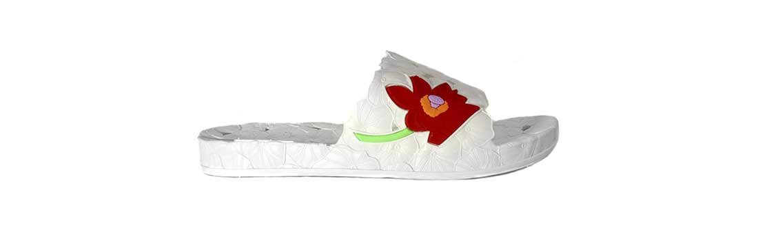 Женские сланцы Магнолия из воздушного ПВХ, цвет белый