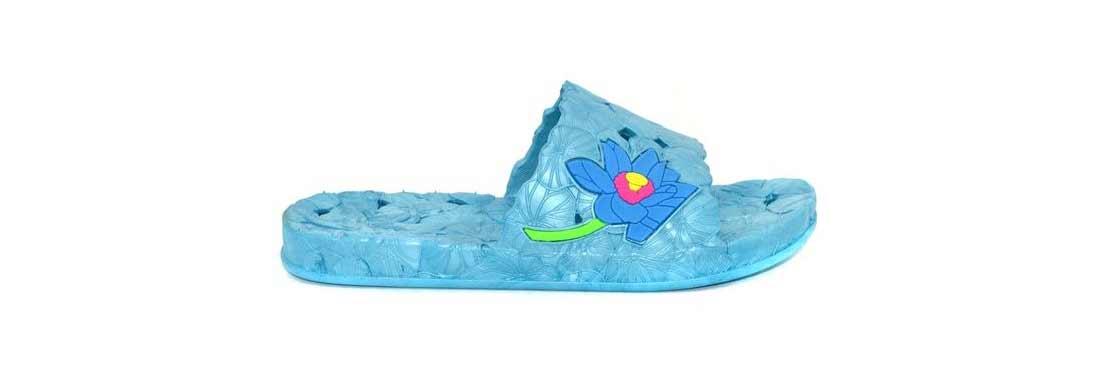 Женские сланцы Магнолия из воздушного ПВХ, цвет голубой