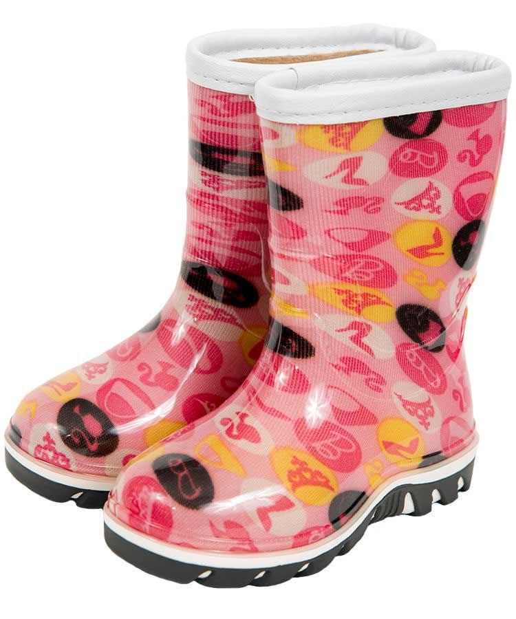 Детские сапожки  «Дино» разноцветные, с двухцветной подошвой, утепленные, цвет розовый